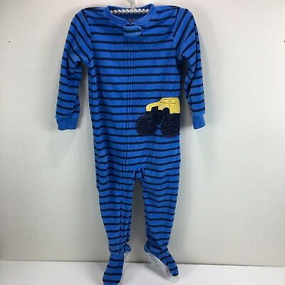 73d40605c330 CARTERS MONSTER BOYS Striped Footed Fleece Sleeper Pajamas Size 3T ...