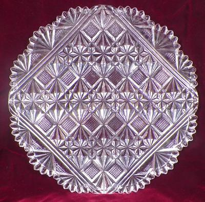 Teutonic Plate McKee Clear Glass EAPG Antique 1894 Pressed