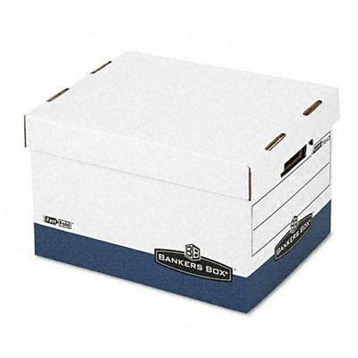 "Bankers Box R-kive - Letter/legal, White/blue 4pk - Stackable - 10.4"" Height X"