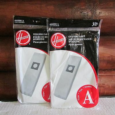 NIP Hoover Vacuum Bags Type A Lot of 6 Bags NEW 4010001A Genuine Parts 43655010