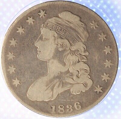 1836 Capped Bust Half Dollar, Nicely Circulated, Classic. Problem Free, Rare!