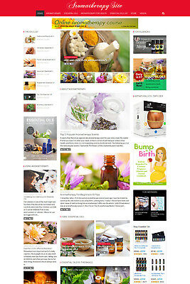 Aromatherapy Essential Oils Health affiliate website for sale Responsive