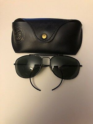 903a43f3d8 Authentic Vintage Ray Ban B L Black SHOOTER AVIATOR SUNGLASSES 1992 Olympic  Game