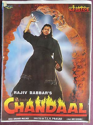 INDIAN Movie Chandaal 1998 Press Book SONG BOOKLET BOLLYWOOD COLLECTION