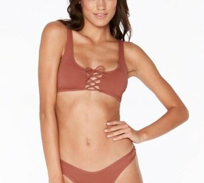 64792d040d223 L*SPACE ROMI LACE Up Pull On Bikini Top Sahara Size Large $99+ ...