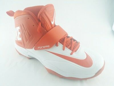 d7d3c2f4a62 Nike Flywire Mens Lineman 3 4 Football Cleats US Size 14 Orange White 603350 -