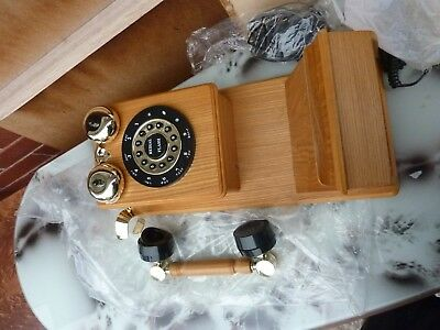 new VINTAGE antique reproduction wall wooden   TELEPHONE PHONE