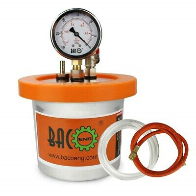 BACOENG 1.2 QT Stainless Steel Resin Trap Vacuum Degassing Chamber (3 Gallon/1.2