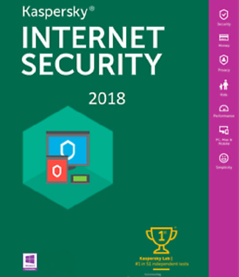 Kaspersky Internet Security 2019 1AN 1PC Multi Device