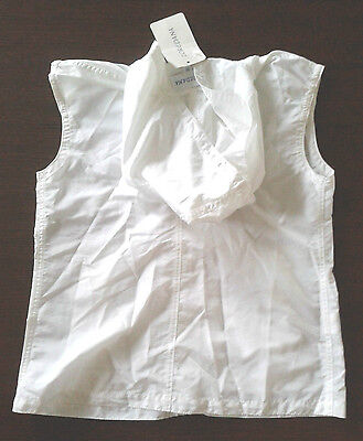 LOREDANA girls waistcoat jacket sleeveless top white sz 8yrs hooded hoodie