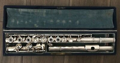 Antique French Silver Plated Flute by GODFROY AINE ca.1880