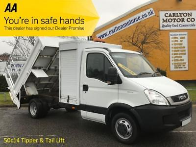 2010/ 60 Iveco Daily 50c14 Tipper Caged Refuge + Tail Lift Low Mileage DRW 5.2t