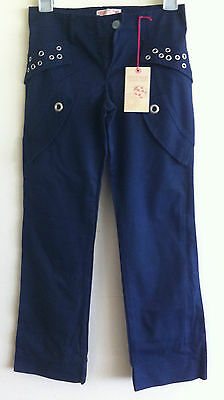 DENNY ROSE young girl girls trousers sz 10 years blue RRP £49