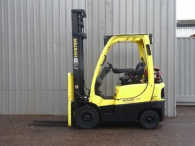 HYSTER H1.6FT. 4300mm LIFT. USED GAS FORKLIFT TRUCK. (#2292)