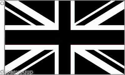 Union Jack (Black) Flag 5ft x 3ft (150cm x 90cm) flag Banner