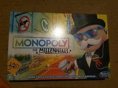 Monopoly for Millennials Board Game from Hasbro - Brand New