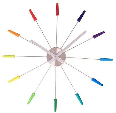 Design Wall Clock XXL Multicolour Metal Ø58cm 2610di Plug Inn Kitchen Watch
