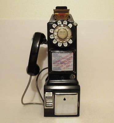 Vintage Western Electric Bell System Rotary Pay Phone 3 Coin Slot 234G Telephone