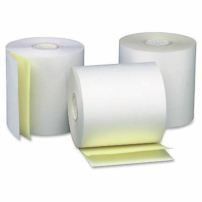"""Business Source Carbonless Paper - 3"""" X 90 Ft - 0% Recycled Content - 50 /"""