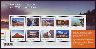 "CANADA 2019 From Far and Wide -2, Souvenir Sheet of 9 landscapes (""P""-$2.65) MNH"