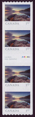 CANADA 2019 From Far and Wide -2, Gutter Strip with #, 4 x $1.27 Smoke Lake MNH