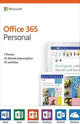 Microsoft Office 365 2019 Personal - Subscription - 1 User, 1 PC/Mac - 1 Year -