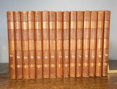 JOHN L. STODDARD'S LECTURES - 15 Volume Set Travel Illustrated  Leather 1925