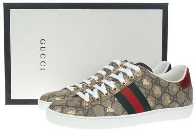 a339c3d94 Like us on Facebook · New Gucci Ladies Gg Supreme Ace Web Detail Sneakers  Shoes 37/Us 7.5