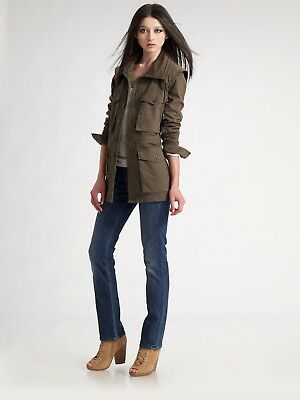 aab79898bcbc NWOT 7 FOR ALL MANKIND Womens Utility Herringbone Jacket - Olive - Sz S -  $265