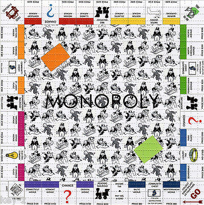 MONOPOLY  - perforated sheet BLOTTER ART psychedelic LSD acid free paper