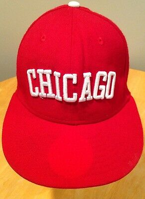 7a15b4cb3e9 Chicago White Sox Wool Hat Cap Vintage Embroidered MLB Baseball Red 7 1 4