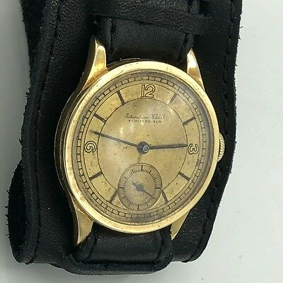 Gold Vintage IWC Schaffhausen 14k (585) Swiss Watch Working Beautiful Rare Old