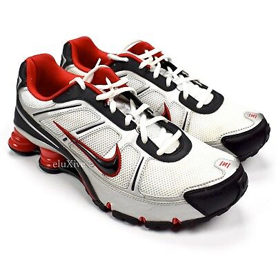 7b7337902a89 NWT Nike Shox Remix+ III Men s Sneakers White Black Silver Red DS 2008  AUTHENTIC