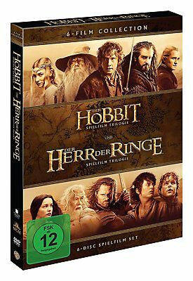 MITTELERDE Collection HERR DER RINGE + DER HOBBIT Trilogie 6 DVD Complete Box