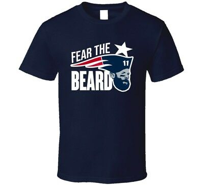 Fear The Beard Julian Edelman New England Football Fan T Shirt
