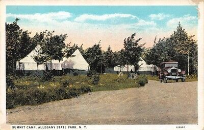 Summit Camp Allegany Sate Park NY tents 120902 C T American Art Colored