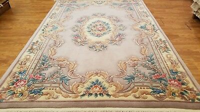 6 X 9 Hand Knotted French Savonnerie Aubusson Thick Pile Area Rug