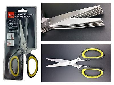 B&Q Shredding Scissors, Stainless Steel, Shredder Security Identity Theft, New