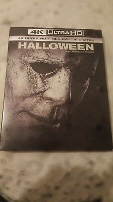 Halloween 4K + Blu-ray + Digital + Slipecover **SEALED**