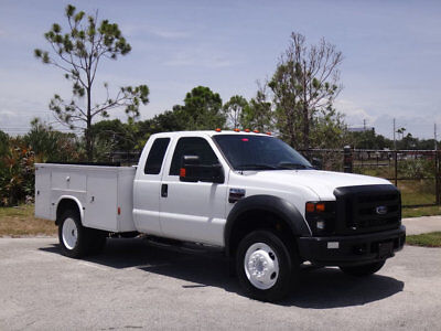 2008 Ford Super Duty F-550 DRW Service Utility Truck 2008 Ford F550 Extended Cab Service Utility Truck Diesel FL Truck 1 Owner F-550