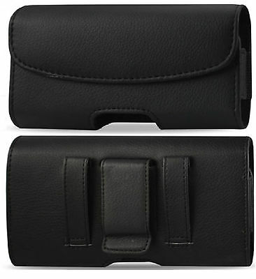 Leather Belt Clip With Belt Loop Pouch Holster Case To Fit Verizon Nokia 2 V