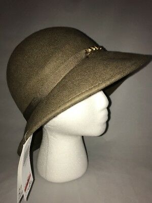 August Hat Company Women s Chain Link Band Bucket Hat Putty Adjustable New a9a81470ff1d