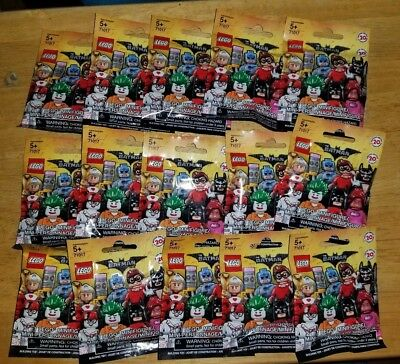 Lot of 15 Lego Batman Movie Series 1 Collectible Minifigures 71017 Blind Bags