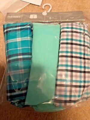 New 3 Packs Old Navy Mens Boxers Cotton Plaid Green Size S L Xl And Xxl