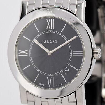 117738a0c43 Auth Gucci 5200M.1 Stainless Steel Black Dial Quartz Men s Watch B 82867