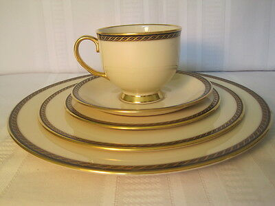 Lenox Tyler Pattern 5 Piece Place Setting - Dinner Salad Bread Butter Cup Saucer