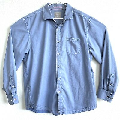 ad434fb6 Tommy Bahama Jeans Island Crafted Men's XL Long Sleeve Button Front Shirt -  Blue