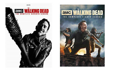 New Sealed The Walking Dead - The Complete Seventh & Eighth Seasons 7 8 DVD 7-8