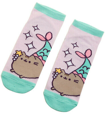 Pusheen Mermaid No Show Socks - One Size Fits Most - New