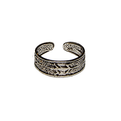 Toe Ring .925 silver girls adjustable open foot beach gecko ring feeanddave
